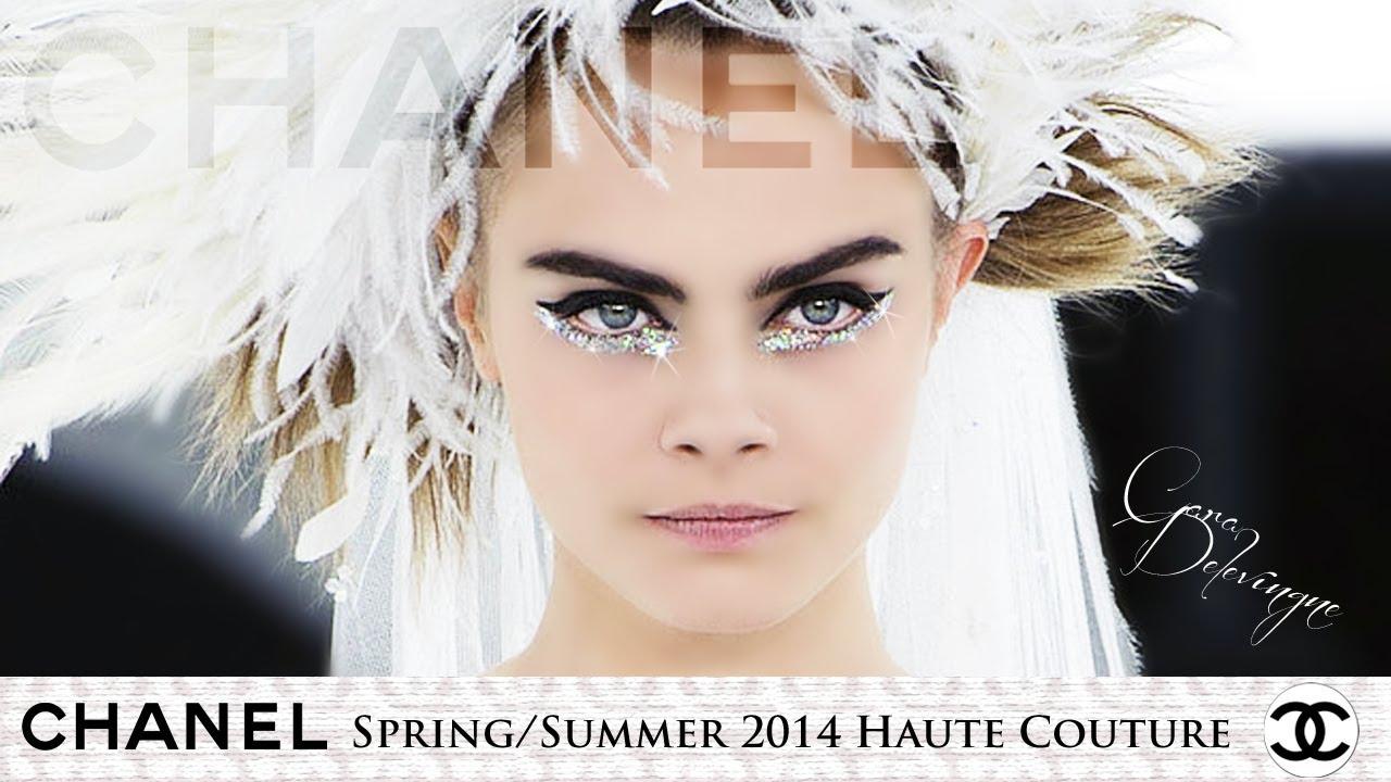 Cara delevingne for chanel springsummer 2014 haute couture show cara delevingne for chanel springsummer 2014 haute couture show makeup tutorial youtube baditri Images