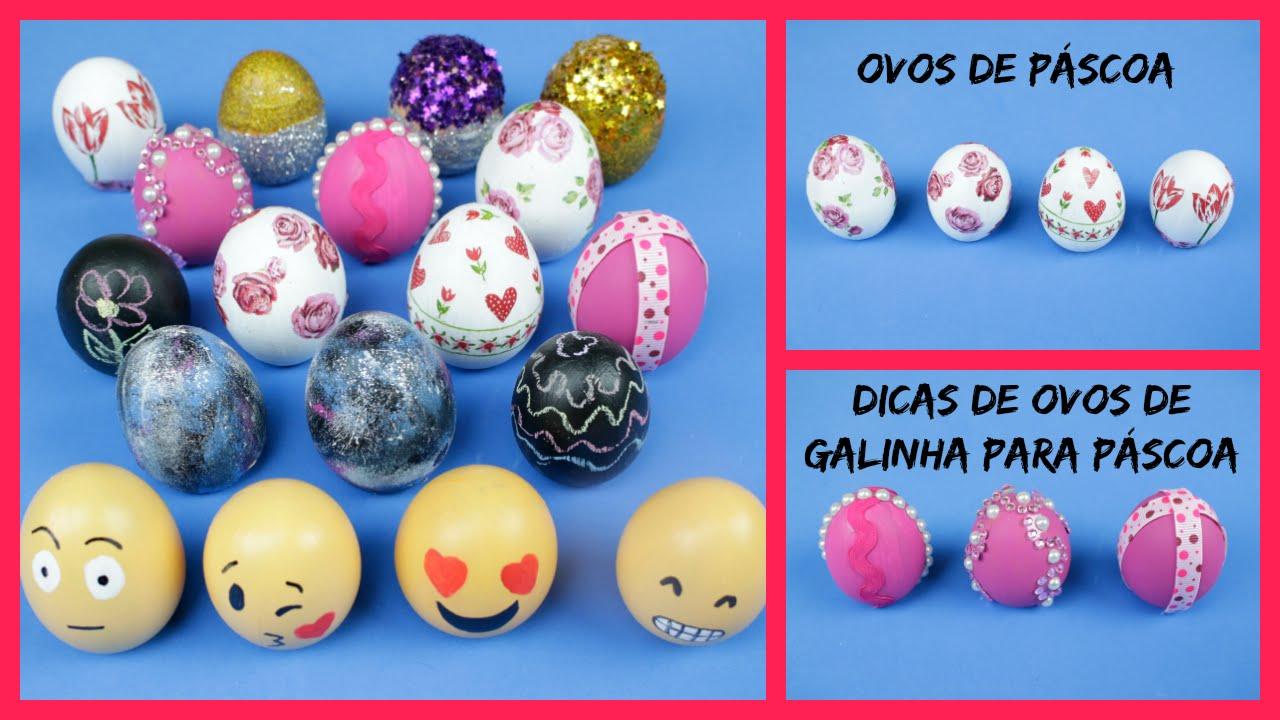 Ovos de Páscoa Dicas de como fazer ovos de galinha para Páscoa YouTube -> Como Enfeitar Ovo De Galinha Para Pascoa