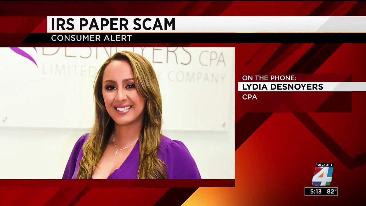 WJXT Interview | Lydia Warns About IRS Paper Scam