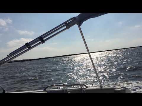 October 15 2017 NauticStar 223 DC Cape May Canal choppy water