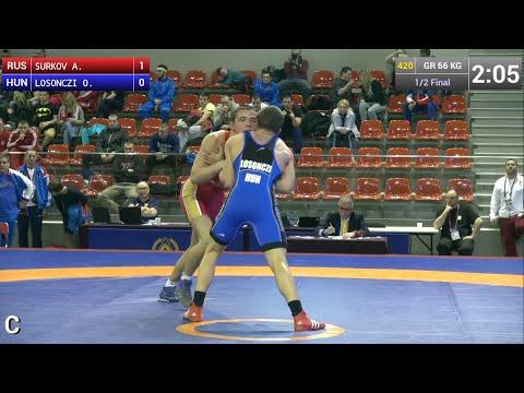 Semifinal GR - 66 kg: Artem SURKOV (RUS) df. Otto LOSONCZI (HUN), 4-0