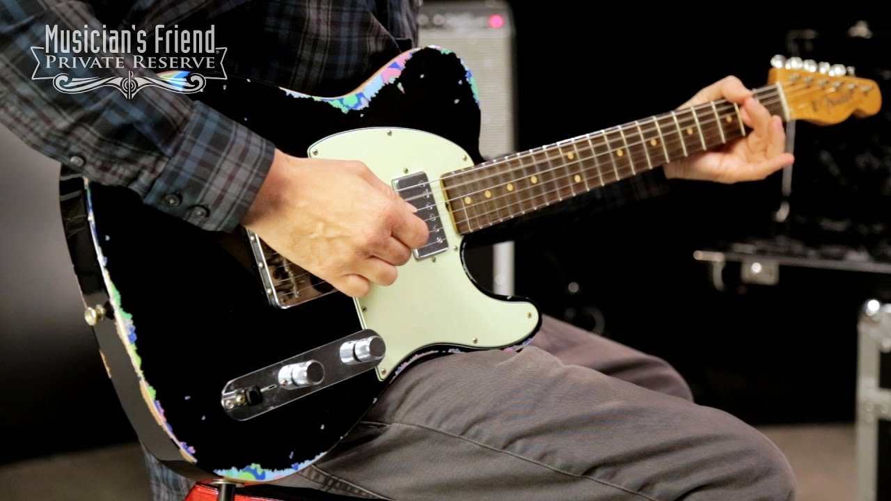 fender custom shop limited edition 60s telecaster hs maple fingerboard black over pink paisley musician s friend [ 1280 x 720 Pixel ]