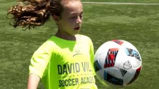 dv7 soccer academy maggie shows off her juggling skills