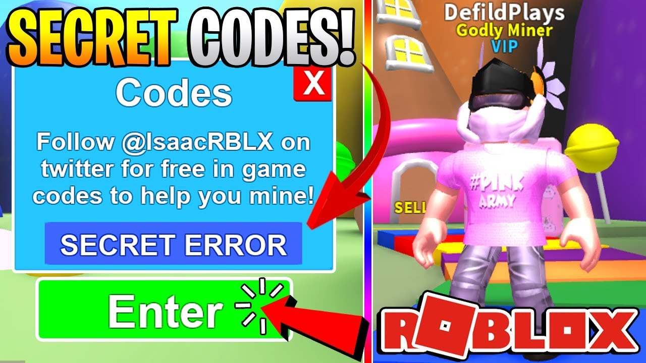 secret money codes  roblox mining simulator