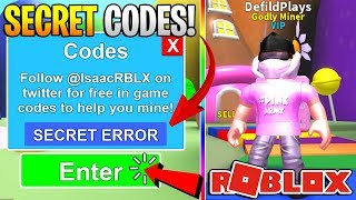 ALL NEW SECRET MONEY CODES IN ROBLOX MINING SIMULATOR! *Get Every Item Free!*