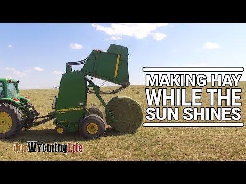 Haying - Baling Hay with a John Deere 568 Baler - Our Wyoming Life