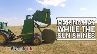 Haying - Baling Hay with a John Deere 568 Baler - Our Wyoming Life