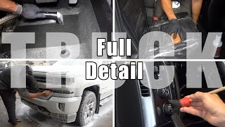 Maintenance Detail | Full Interior & Exterior Car Detailing of a Chevy Silverado Truck!