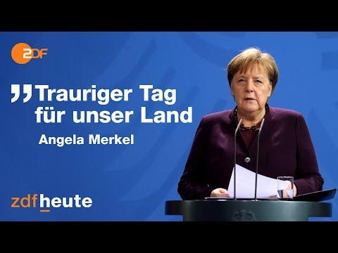 Merkel zu Gewaltverbrechen in Hanau: Viele Hinweise auf rechtsextremistisches Motiv