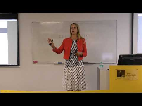 Siobhan Hayden (COO - Hashching) speaks at the Sydney Campus