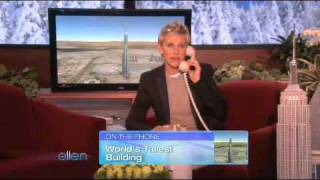 The Tallest Building in the World Gets a Call from Ellen