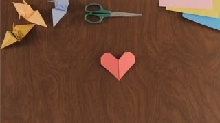 How To Make An Origami Heart : Simple & Fun Origami