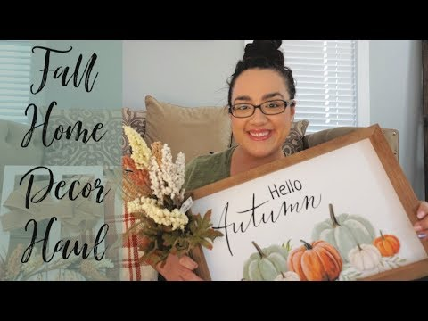 Fall Decor Haul || Kirklands || Marshalls || Big Lots
