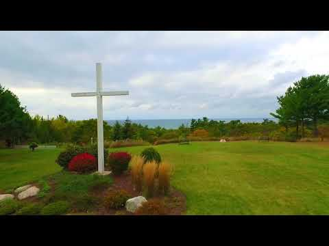 Drone video of beautiful Cross Village MI on M-119 near Leggs Inn and the tunnel of trees