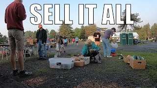 Selling at the Flea Market - Almost All Cleared Out