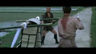 "Sword fight from Hideo Gosha's 1978 film ""Bandits vs Samurai Squadron"""