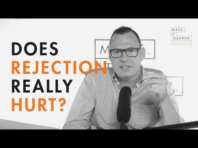 Does rejection really hurt?