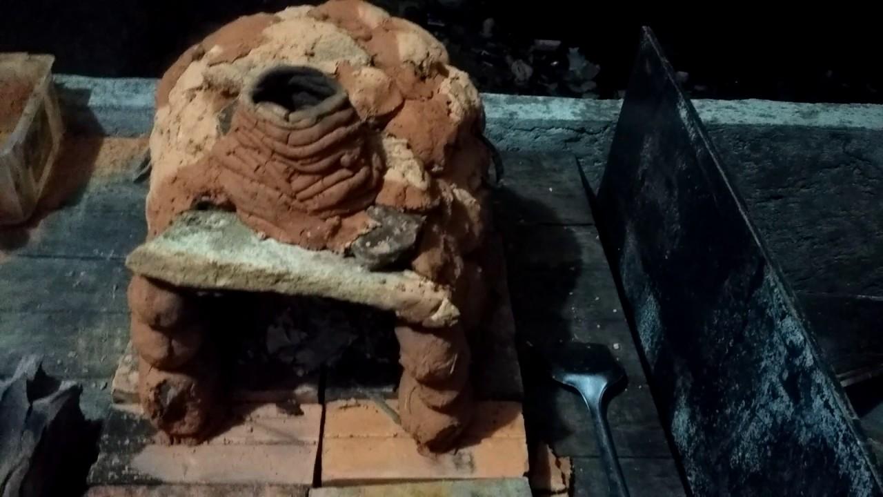 как сделать печку из глины и камней