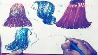 How to draw cute hairstyles for beginners Do It Yourself | Drawing Tutorial | Artistree World