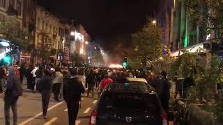 Bagarres à Bruxelles, Camionnette mise à feu