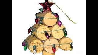 Recycled Wine Cork Mini Christmas Tree Ornament