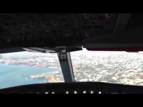 Visual approach and landing at Dakar, Senegal SN205