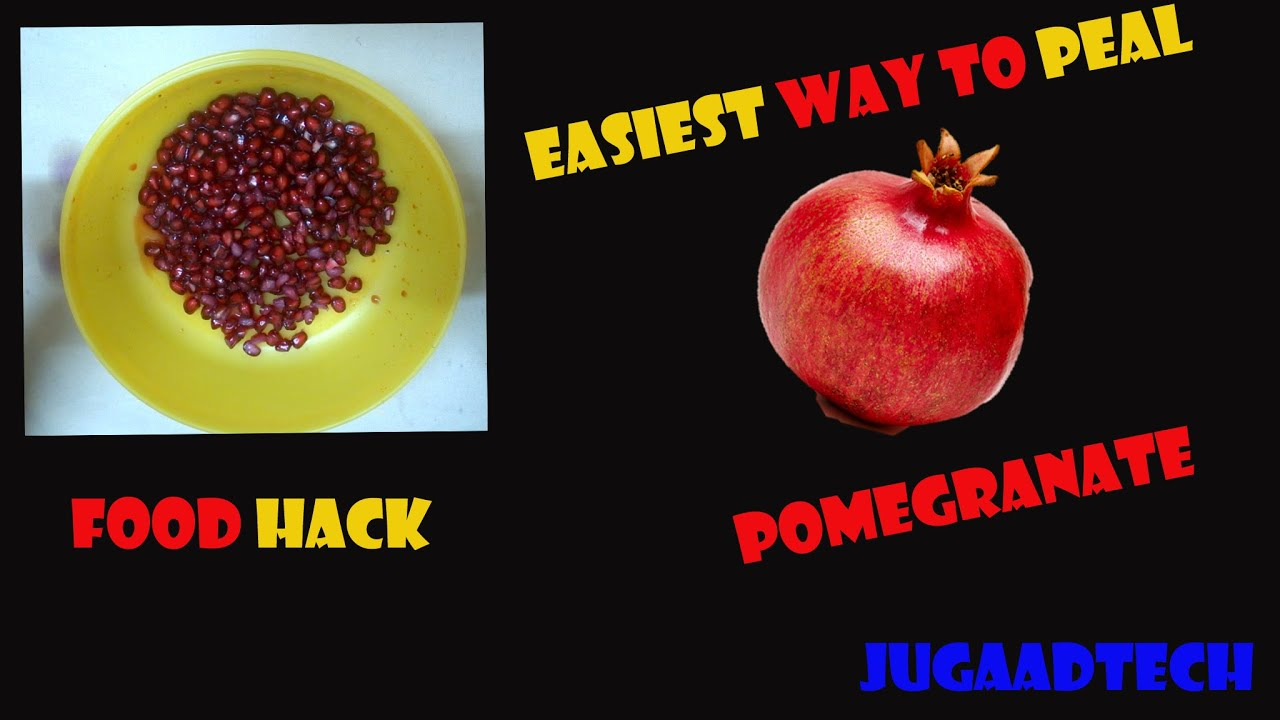 how to eat a pomegranate hack