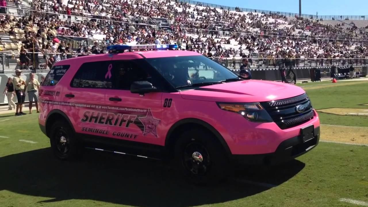 HG2 Emergency Lighting | Seminole County Sheriff's Pink Patrol Ford Interceptor - YouTube