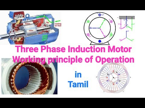 Three Phase Induction Motor working principle in Tamil