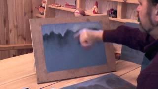 """Видеоурок """"Учимся рисовать с нуля пейзаж пастелью"""", цикл """"Дыхание года"""", (Александр Цвелик)"""