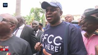 Fayose surrenders self to EFCC