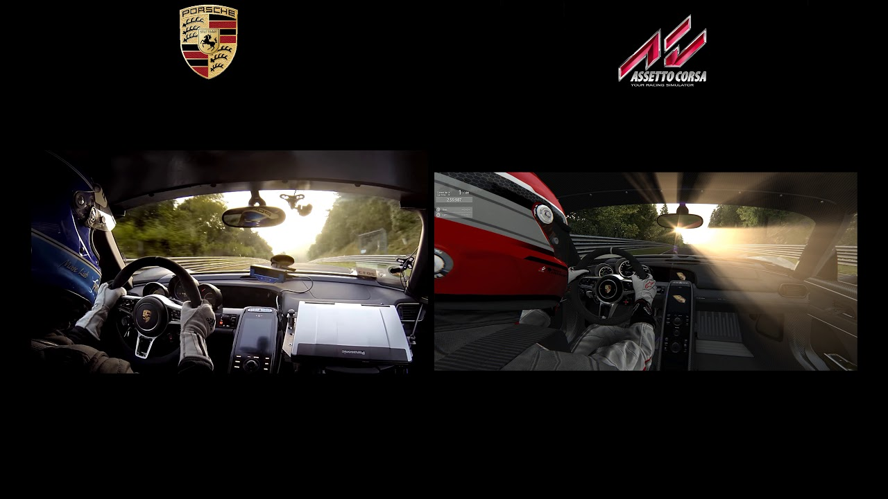 assetto corsa vs real life porsche 918 spyder nordschleife youtube. Black Bedroom Furniture Sets. Home Design Ideas