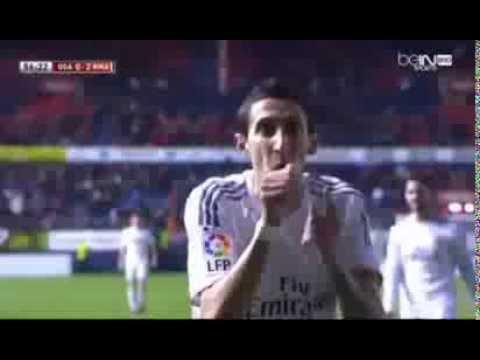Angel Di Maria Goal Real Madrid 2 - 0 Osasuna 15/01/2014 Copa Del Rey Gole