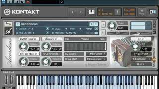 Best Service Accordion Sample Library Tutorial Video - Bandoneon bellows expression