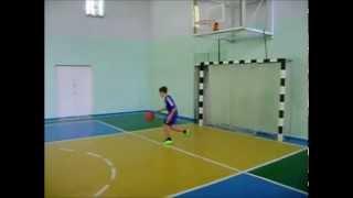 Артём Литвиненко 6 класс круговая тренировка баскетбол