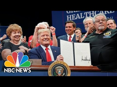 Trump Signs Medicare Executive Order To 'Ensure The World's Best Health Care' | NBC News thumbnail