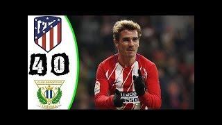 ATLETICO MADRID vs LEGANES : Liga Santander 2018 buts et résumé du match