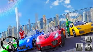 Superheroes GT Racing Car Stunts - Android GamePlay - Car Games Android