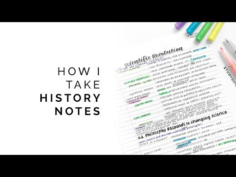 How To Take History Notes 🍂 Color-coding, Effective Summaries, And More!