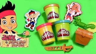 Play Doh Jake and the Neverland Pirates Treasure Creations Pirate Mater Meets Captain Hook Cars 2014