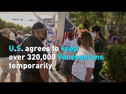 U.S. agrees to keep more than 320,000 Venezuelan refugees temporarily