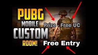 PUBG MOBILE Free Tournaments LIVE CUSTOM ROOMS