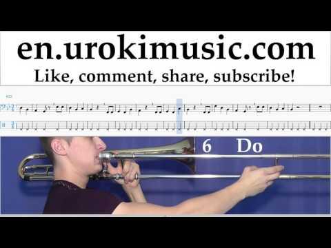 Trombone lessons Happy - Birthday Sheet Music Tutorial Part#2 um-b352