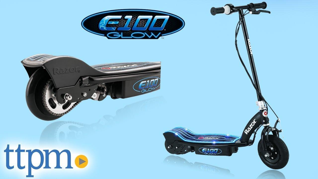 Razor E100 Glow Electric Scooter From Razor Youtube