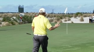 J.B. Holmes chips in for eagle at Hero World Challenge