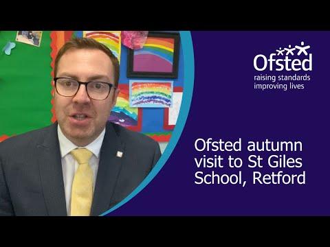 Ofsted Autumn Visit To St Giles School, Retford