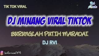 DJ BURUNG LAH PUTIH MARADAI | DJ MINANG TAKABEK GADIH RANTAU FULL BASS #DJRvi