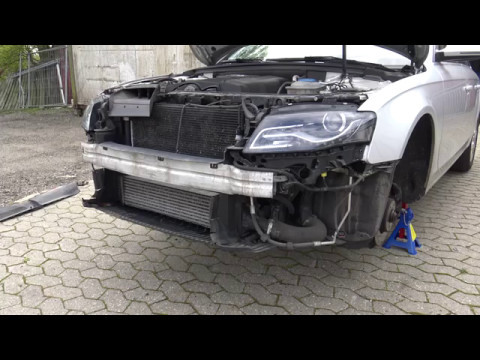 Change Or Remove Front Bumper Grill On A Audi A4 B8