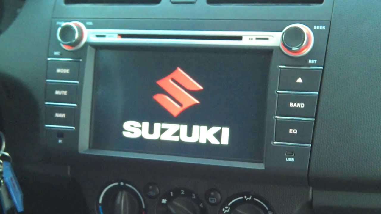 8 suzuki swift car dvd player gps sat nav head unit. Black Bedroom Furniture Sets. Home Design Ideas