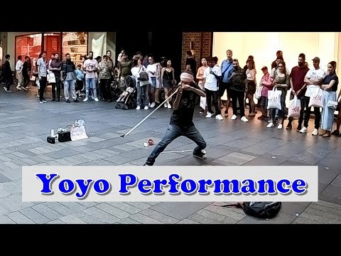 Amazing Japanese Yoyo Man Street Performance At Pitt Street Mall - Sydney Australia